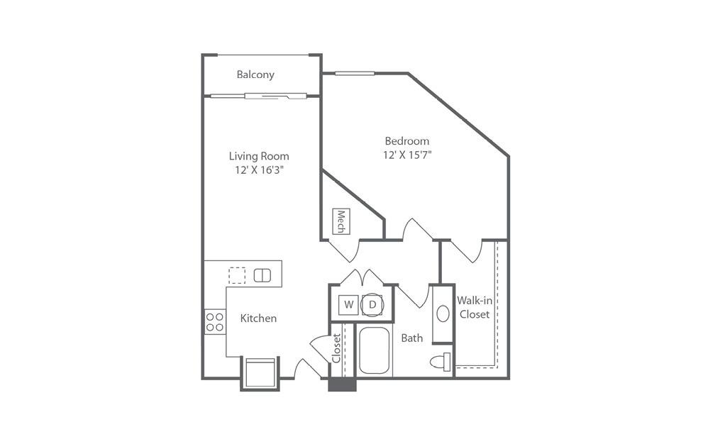 A2 1 bedroom 1 bath 834 square feet (1)