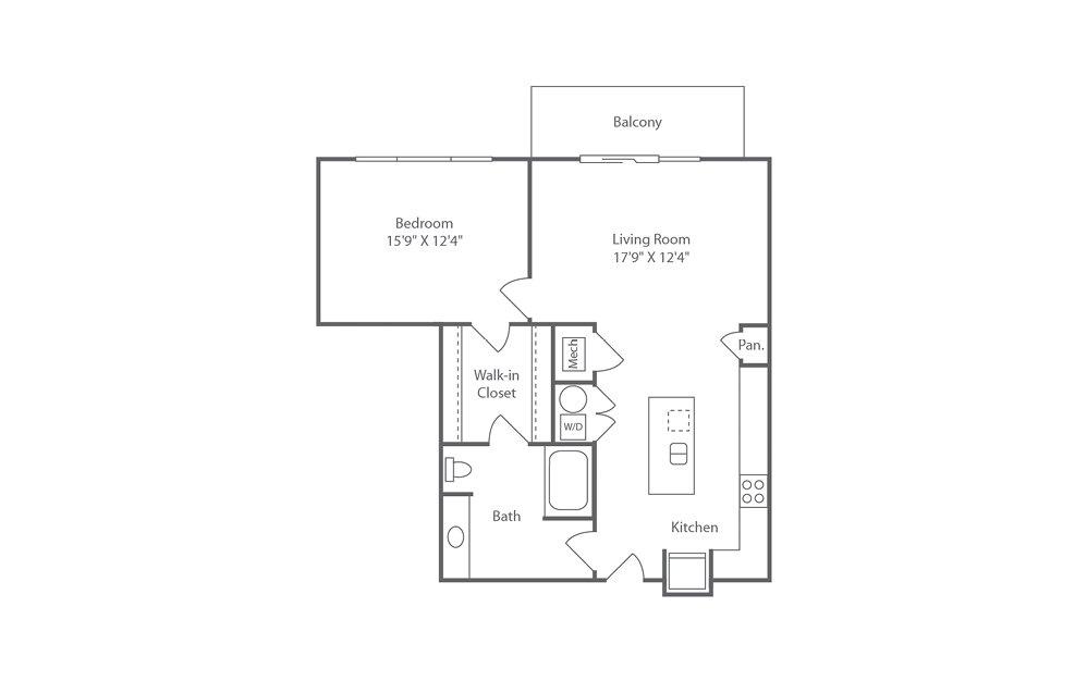 A6 1 bedroom 1 bath 925 square feet (1)