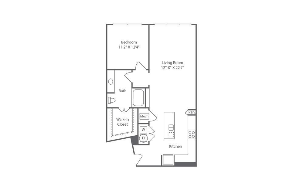 A7 1 bedroom 1 bath 930 square feet (1)