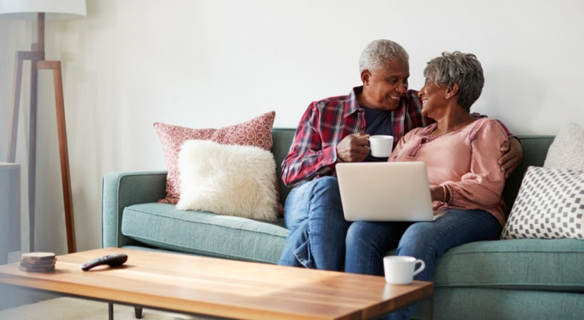 Couple enjoying their 55 and over apartments