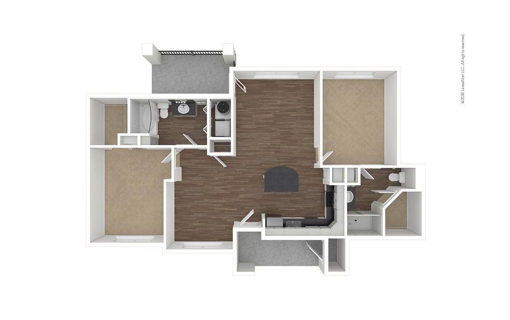 B1 2 bedroom 2 bath 1144 square feet (1)