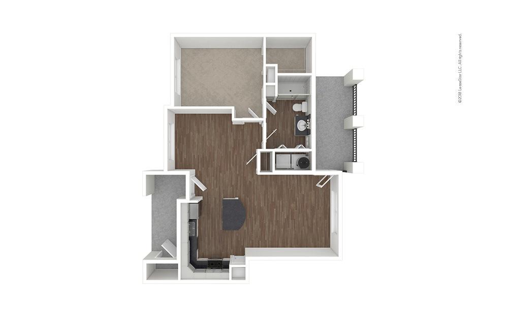 A2 1 bedroom 1 bath 860 square feet (1)