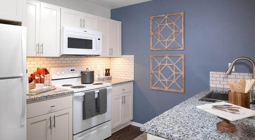 Sleek Granite Countertops in Kitchen