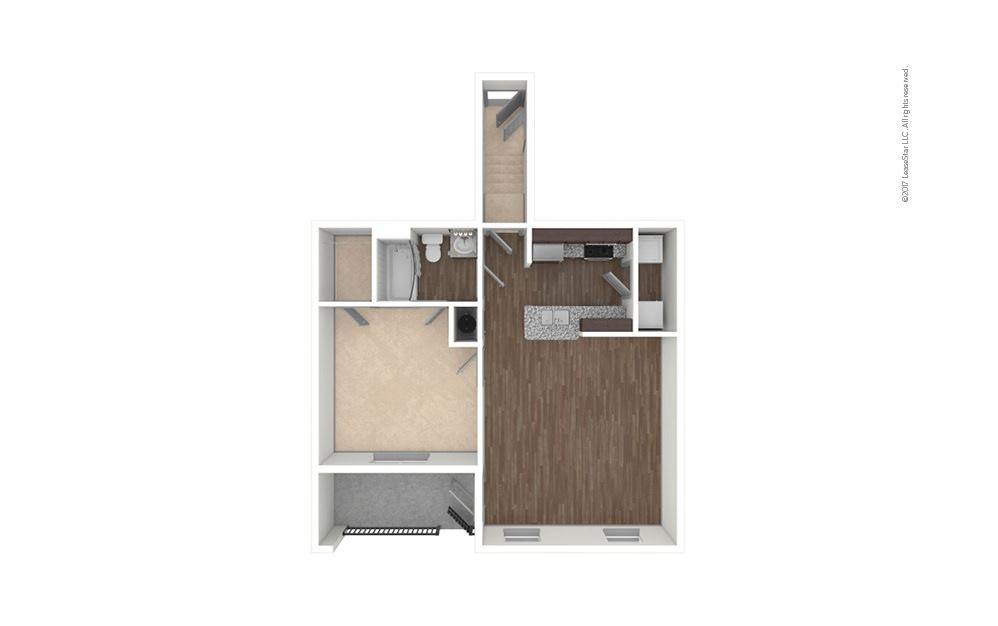 A1A 1 bedroom 1 bath 814 square feet (1)