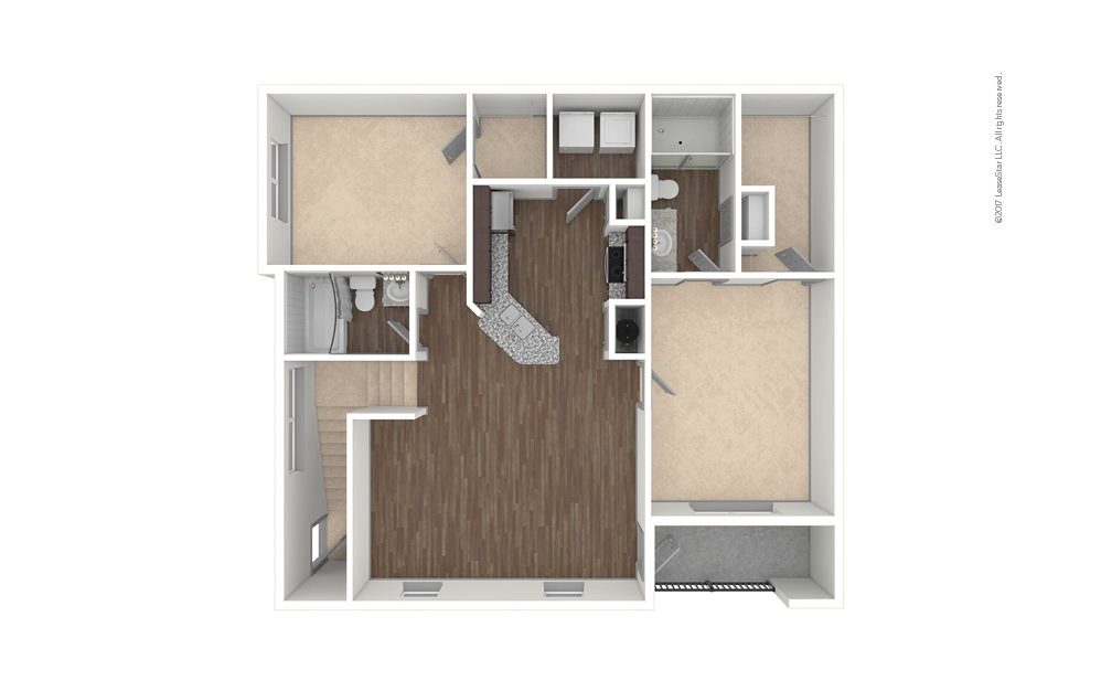 B1A 2 bedroom 2 bath 1149 square feet (1)