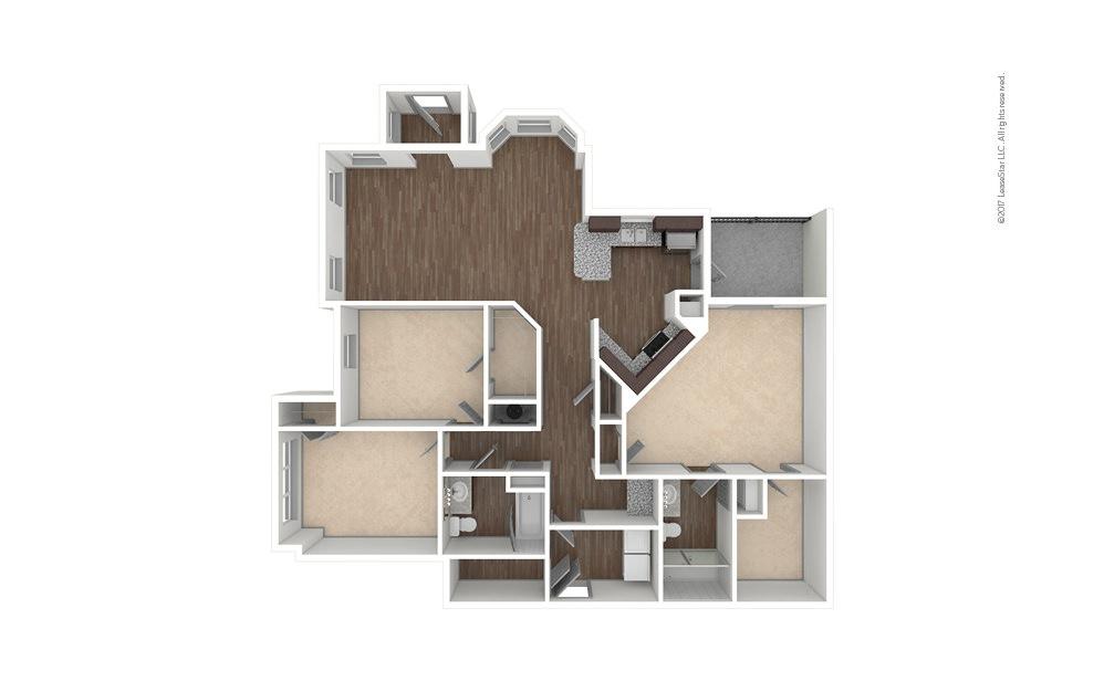 C1 3 bedroom 2 bath 1507 square feet (1)