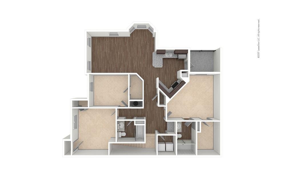 C1A 3 bedroom 2 bath 1507 square feet (1)