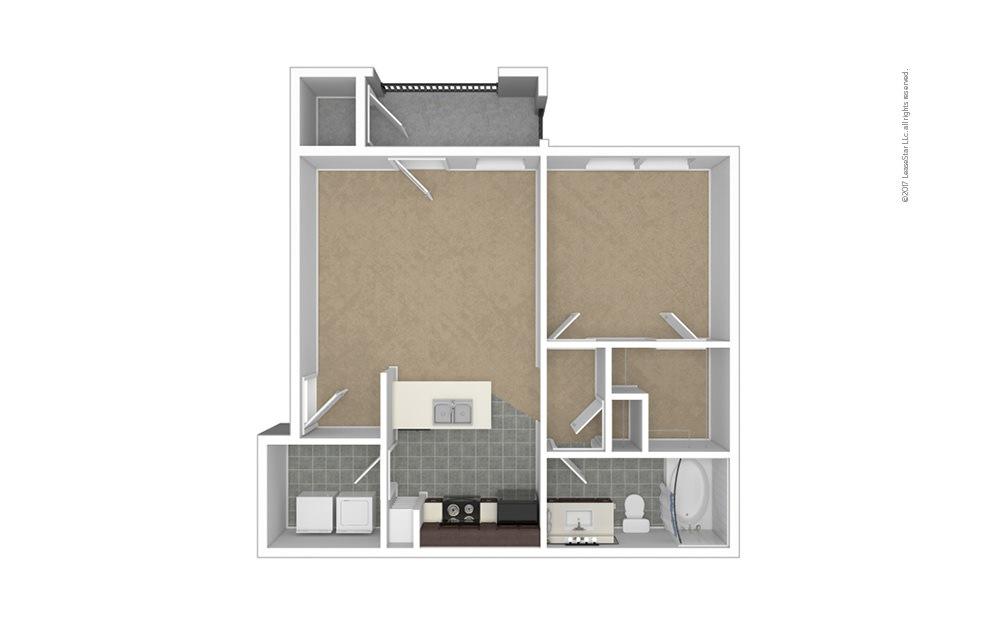 A2 1 bedroom 1 bath 661 square feet (1)