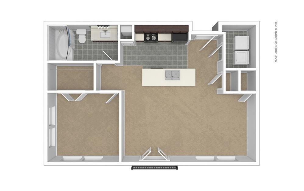 A3 1 bedroom 1 bath 794 square feet (1)