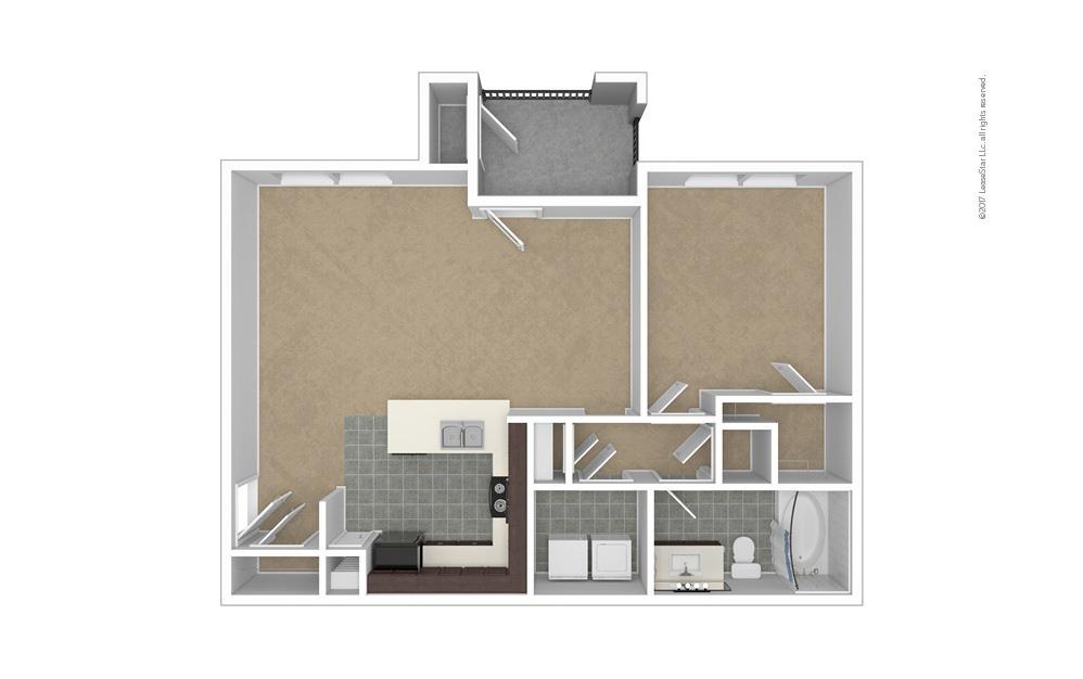 A4 1 bedroom 1 bath 844 square feet (1)