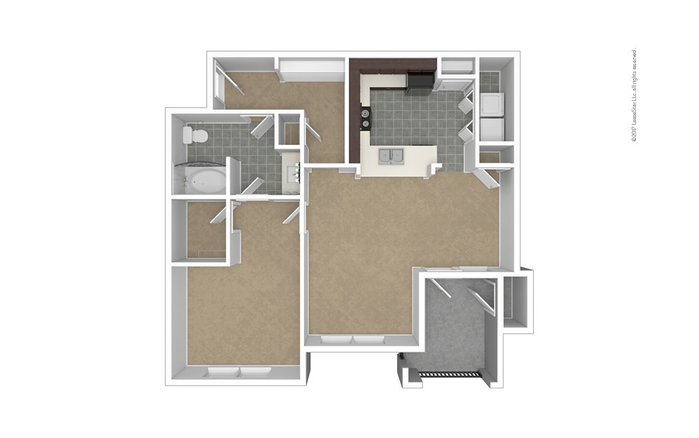 A6 1 bedroom 1 bath 878 square feet (1)