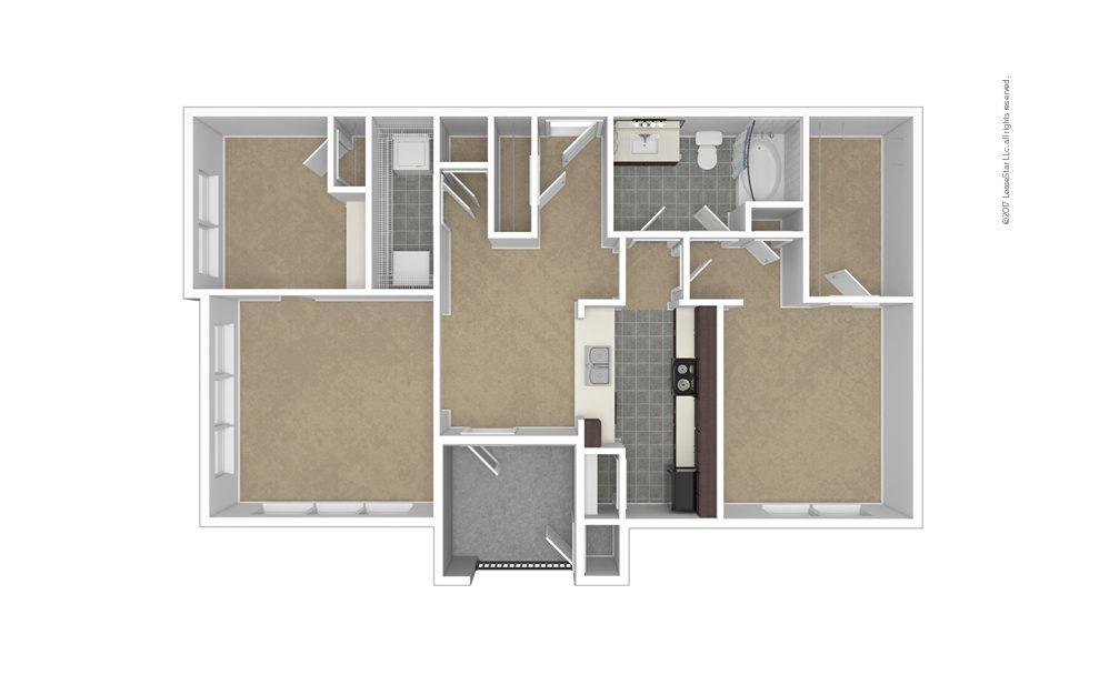 A7 1 bedroom 1 bath 1066 square feet (1)
