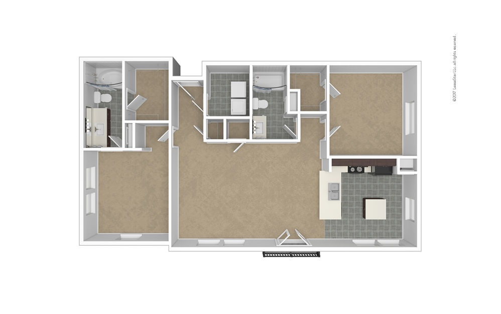 B4 2 bedroom 2 bath 1213 square feet (1)