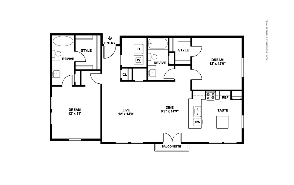 B4 2 bedroom 2 bath 1213 square feet (2)