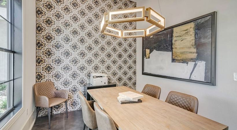 Business center with WiFi at our modern apartments near Lake Travis