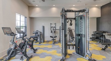 Our Lake Travis, Austin apartment gym with bike stations and weights