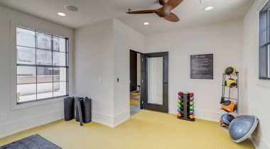 Yoga studio at our Lake Travis, Austin apartment gym
