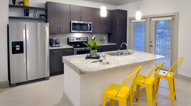 Kitchen Islands in Select Homes