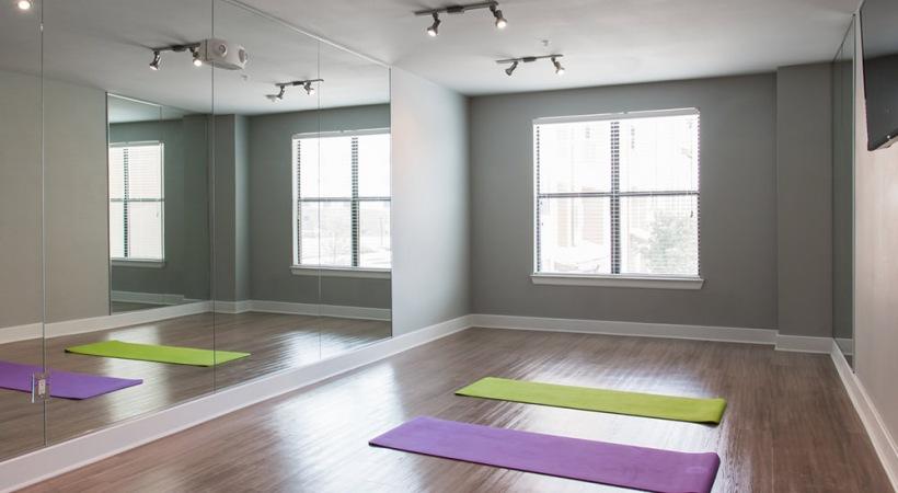 Our Stonebriar apartment gym with yoga studio