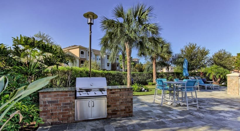 Outdoor gas grills at apartments in Clear Lake, TX
