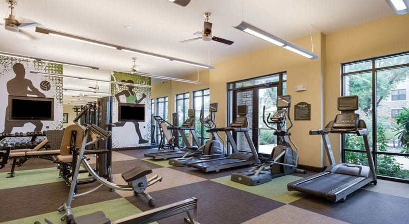 Apartment gym at apartments for rent in San Antonio