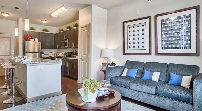Modern Cabinetry with Designer Hardware and Tile Backsplash