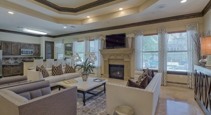 Resident Lounge with WiFi, HDTVs, a Fireplace, and More