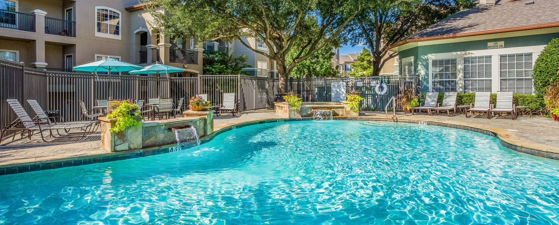 Allen apartment complex with pool