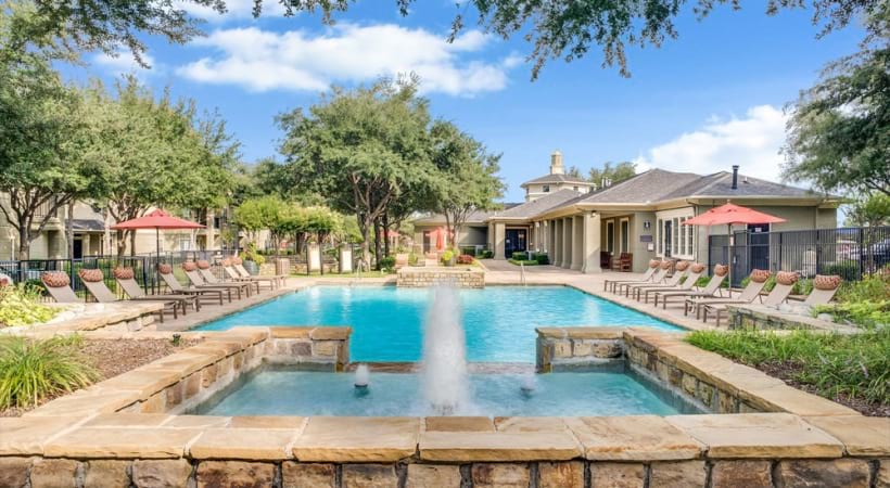 Apartments for rent in Irving, TX with resort style pool