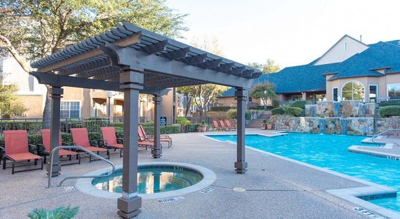 Pool and heated spa at Preserve at Arbor Hills