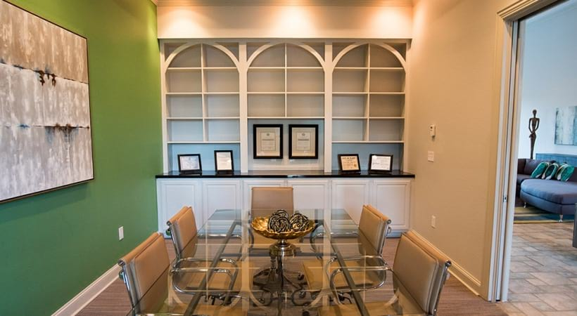 Conference room at apartments in Plano, TX