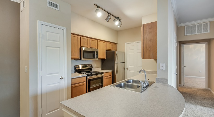 Spacious Kitchen Island at Our Cortland Apartments
