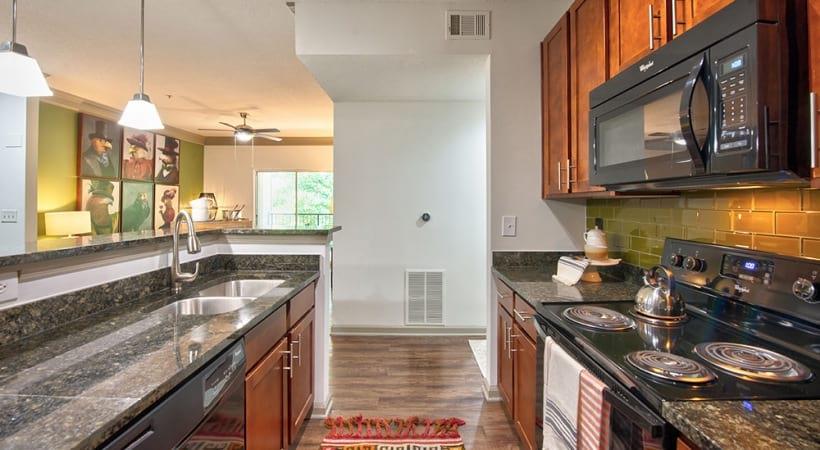Modern apartment kitchen at Cortland Duluth