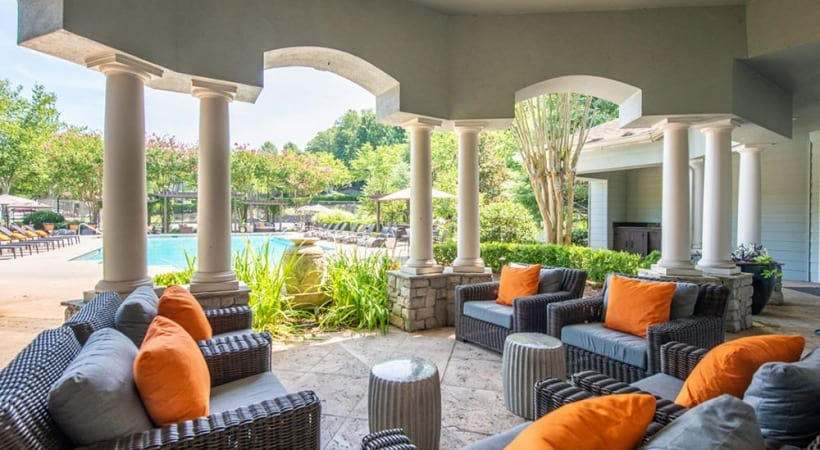 Outdoor lounge at Cortland Duluth in Duluth, GA