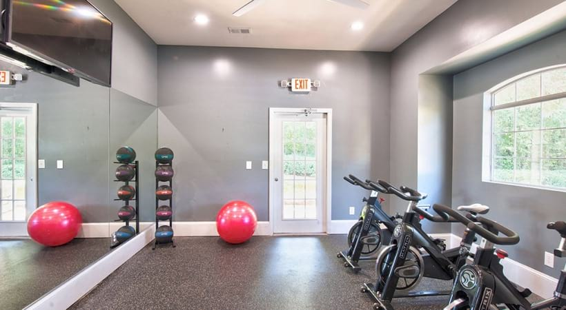Spin studio at apartments in Duluth, GA
