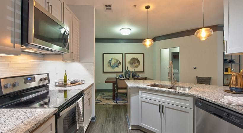 Modern apartment kitchen in Duluth, GA