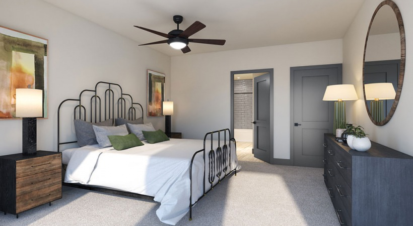 Spacious bedrooms at our apartments for rent in Downtown Dallas