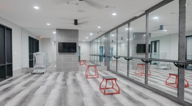 Fitness center at our luxury apartments in Katy, TX
