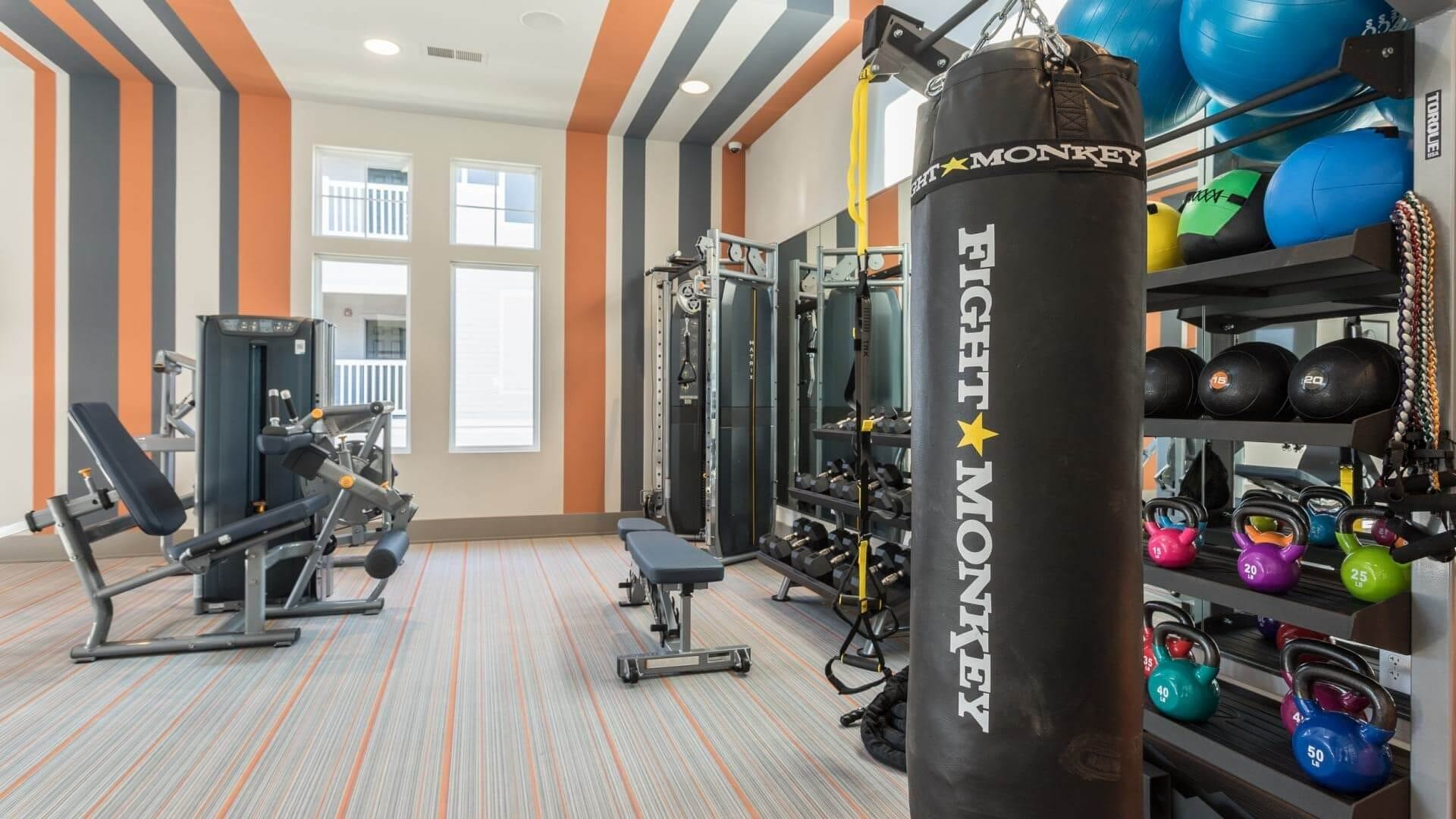 Newly Renovated Fitness Center At Our Morrisville Apartments