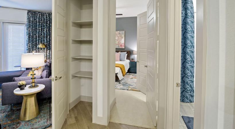 Storage closet at our spacious apartments near UTD