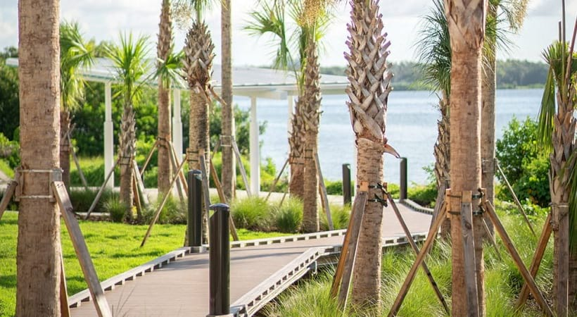Waterfront boardwalk at our bayside apartments