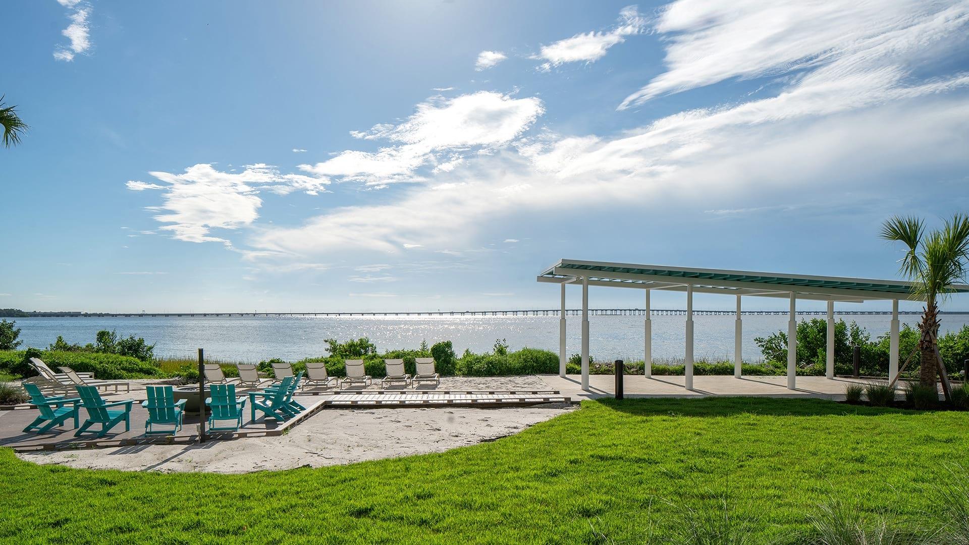 Waterfront views at our Tampa Bay apartments