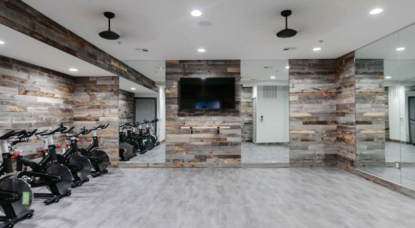 Two-story Allen apartment gym