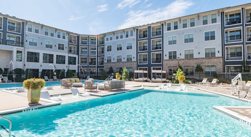 Our Fairview apartment pool with sun decks