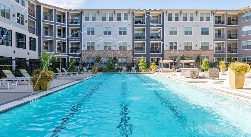 Our Fairview Village apartment pool with sun deck