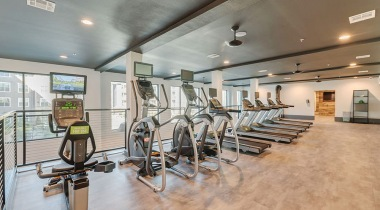 Two-Story, 24/7 Fitness Center and Yoga/Spin Studio