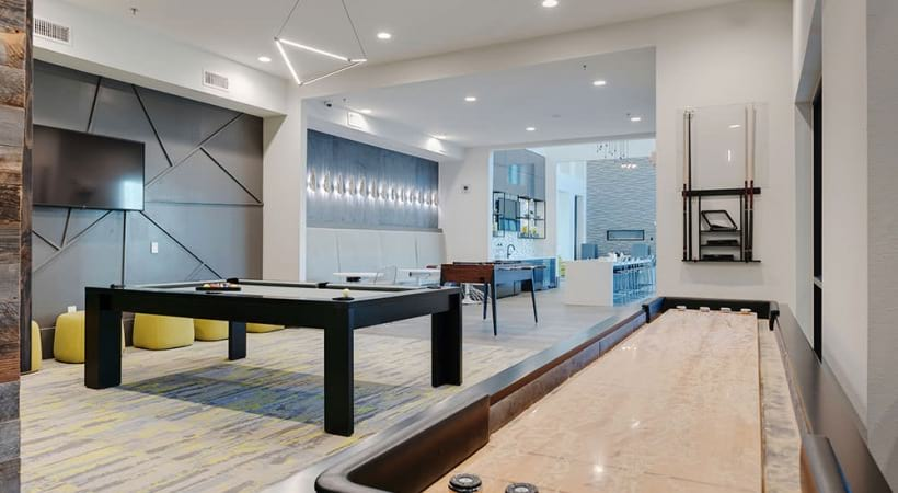 Billiards at our luxury apartments in Allen, TX