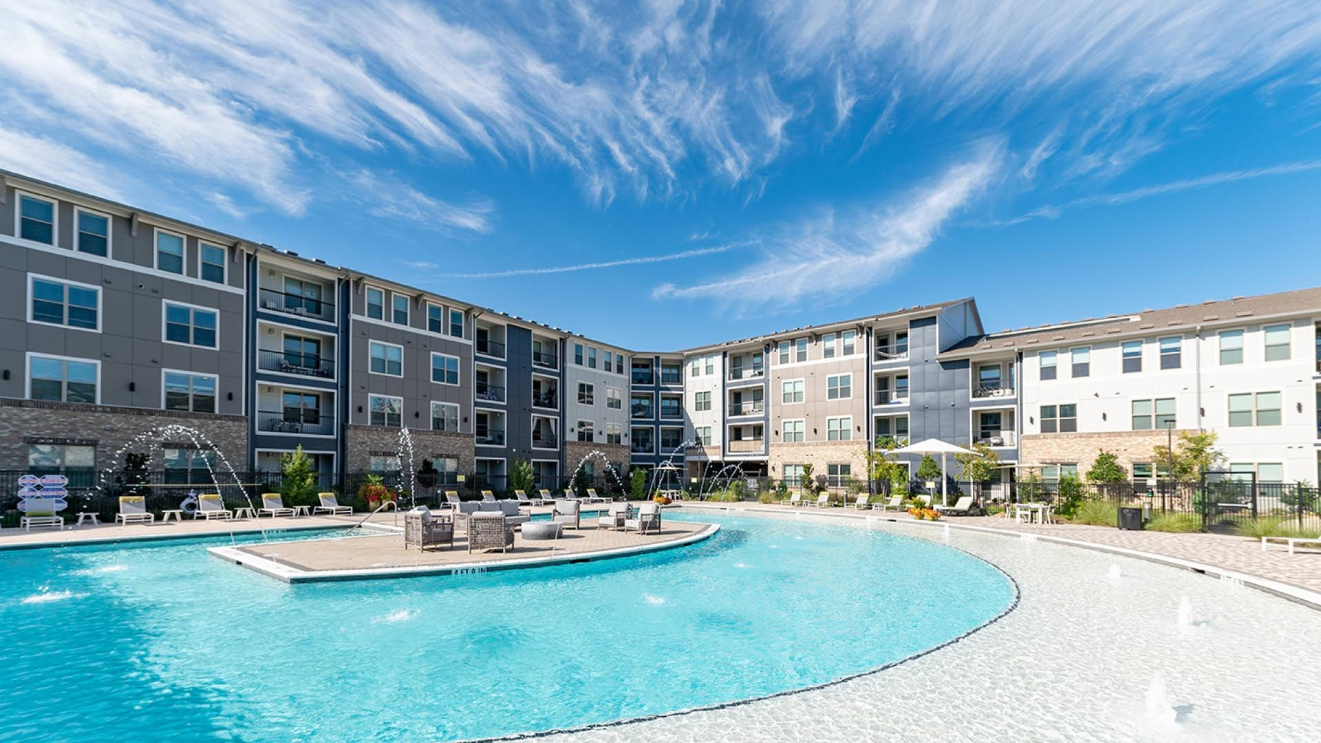 Resort-style pool at our luxury apartments in Allen, TX