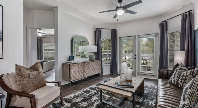 Spacious apartment floor plan at Lansbrook at Twin Creeks