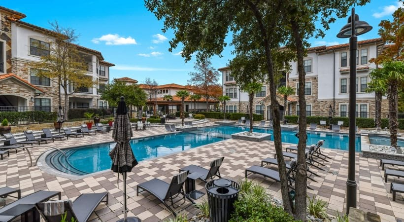 Our upscale Irving apartment pool